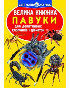 Большая книга «Пауки» 240 х 330, мягкая, (укр.)
