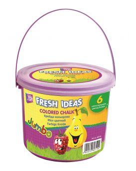 Мел цветной JUMBO 15 шт. в пластиковом ведре