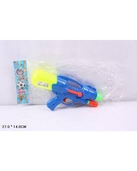 Пистолет водный с насосом, в пакете 27х14 см