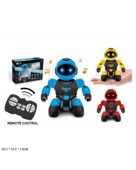 Робот на радиоуправлении, на батарейке, свет, звук, в ассортименте, в коробке 26,2х19,3х7,9 см