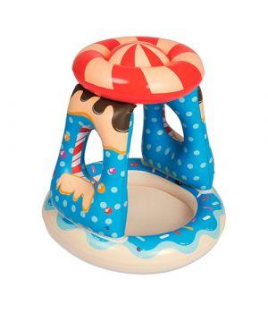 Бассейн надувной детский «Конфетка» с навесом, 26 л., от 2 лет, ремкомплект, в коробке 91х91х89 см