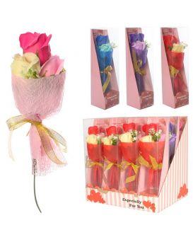 Аксессуары для праздника «Цветы, букет» 24 см, аромат., в ассортименте, 12 шт.в дисп.бок.29х29х21 см
