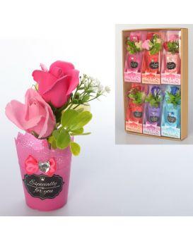 Аксессуары для праздника «Цветы» 18см,ароматизиров,в слюде,в ассортименте,6шт.в дисп.бокс32х51х7,5см