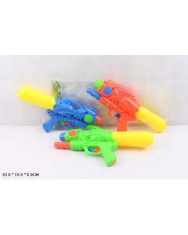Пистолет водный с насосом, в асорртименті, пакете 33 см,