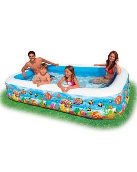 Бассейн надувной семейный прямоугольный, 3 кольца, 999 л., 8,5 кг, 305х183х56 см