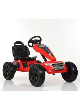 Электрокар 2 мотора 35W, 1акумулятор 12V 7AH, колеса EVA, пластиковое сидение, 111х65х68 см, красный