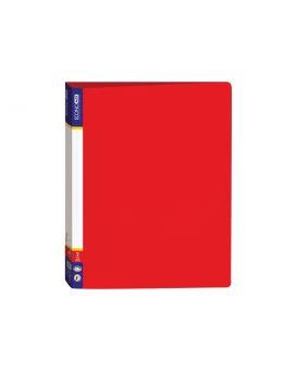 Папка пластиковая А4 Economix на 2 кольца, красная