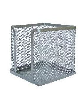 Бокс для бумаги, металлический, серебряный 100х100х100 мм, Leader