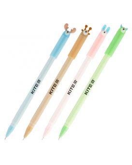 Ручка гелевая, синяя «Big eyes» Kite