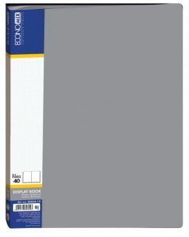 Папка пластиковая А4 с 40 файлами Economix, серая
