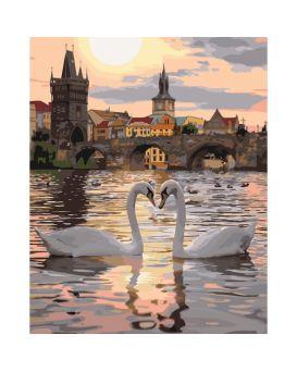 Набор для росписи по номерам «Романтическая Прага» 40 х 50 см