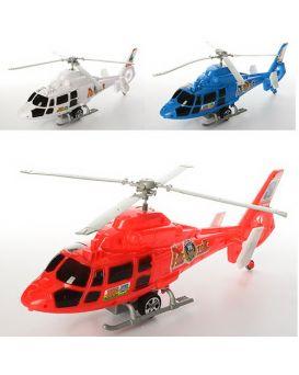 Вертолет 35 см, инерционный, на запуске, в ассортименте, в пакете 35х13,5х7 см