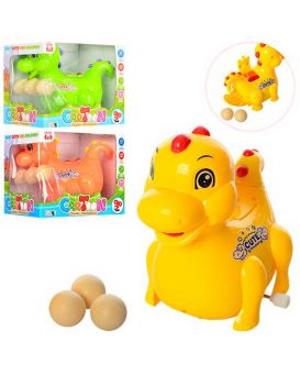 Заводная игрушка «Динозавр» ездит, несет яйца 3 шт., в ассортименте, в коробке 13х11,5х9,5 см
