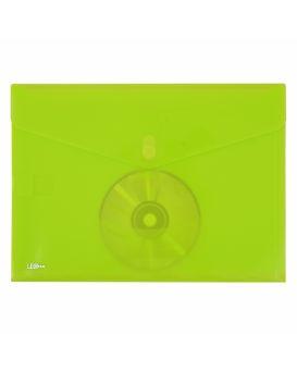 Папка - конверт А4 непрозрачная на кнопке «Мульти» зеленая