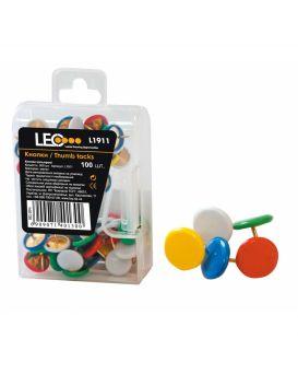 Кнопки цветные 100 шт., ТМ Leo, L1911