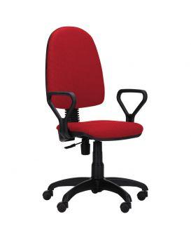 Кресло поворотное «Престиж Люкс» А-28 цвет - красный, Арт-Пром