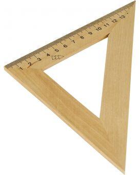 Треугольник деревянный 16 см, 45°х45°