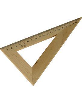 Треугольник деревянный 22 см, 60°х90°х30°