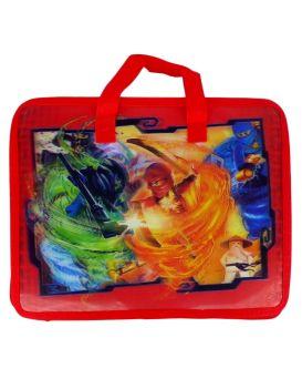 Папка - портфель, детская, 3D «Бой ниндзя» 33х26,5х8,5 см, А