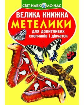 Большая книга «Бабочки», 240 х 330, мягкая, (укр.)