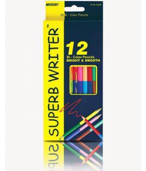 Карандаши двусторонние 12 шт. 24 цветов «Super Writer» ТМ Marco