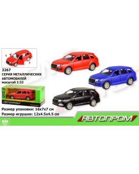 Автомобиль металлический АВТОПРОМ, двери открываются, в ассортименте, в коробке 16х7х7 см
