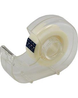 Скотч 18 мм х 20 м, в прозрачном диспенсере