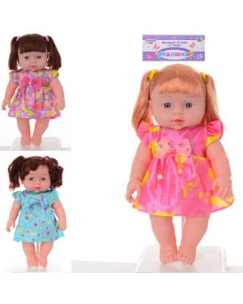 Кукла 29 см, на батарейке, звук, в ассортименте, в пакете 19х40х8 см