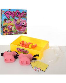 Игра настольная «Жадная свинья» нос на резинке 2 шт, фрукты, в коробке 27х27х6 см