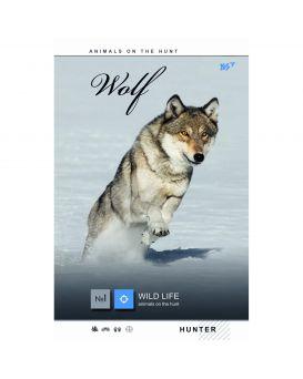 Тетрадь А4 144 л., твердый переплет, пластиковая обложка «Wild force» ТМ YES