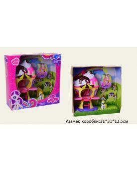Домик «My little pony» с 2-мя пони, выдвижной балкончик, в коробке 31х31х12,5 см