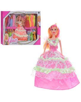 Кукла 27 см. с нарядом, платья 19 шт., в ассортименте, в коробке 52х35х6 см