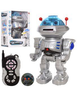 Робот 30 см, на радиоупр., на бат., звук, свет, ходит, стреляет дисками, в кор. 32х21,5х15,5 см