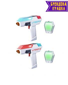 Игровой набор для лазерных боев «Laser X Мини» для двух игроков, два бластера, две мишени.