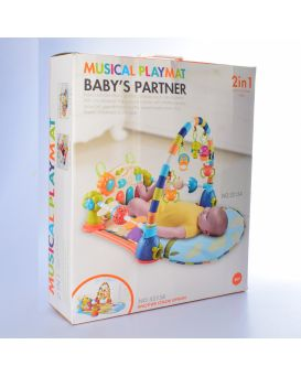 Коврик для младенца на батарейке, музыка, звук, свет, пианино, подвеска, дуга, кор.46,5х55х14 см