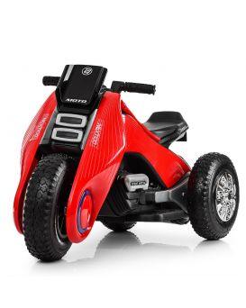 Мотоцикл 2 мотора 18 W, аккум 12 V 4.5 A, свет, MP3, USB,SD кожаное сидение, красный
