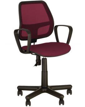Кресло поворотное «Alfa» цвет - бордовый, Новый Стиль
