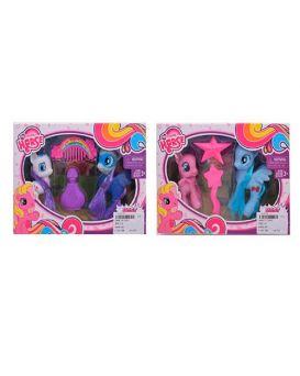 Герои мультфильма «My Little Pony» 2шт.8см и 10см,расческа,аксессуары,в ассортименте,к.21,5х15х5,5см
