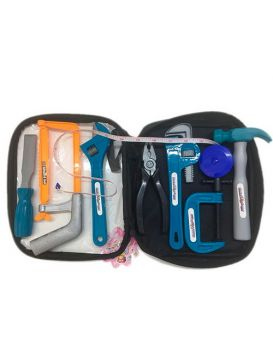 Набор инструментов молоток, пила, плоскогубцы, ключ, в сумке 14х22х6 см