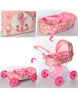 Коляска для кукол «Классическая» 58х58х38 см, с корзиной, 4 шт. колес, в кор. 57х33,5х8,5 см