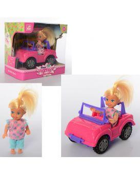 Кукла 11 см, с машиной 15 см, в коробке 18х17х11,5 см