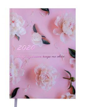 Ежедневник датированный 2022 год, A5 «SAVE» розовый