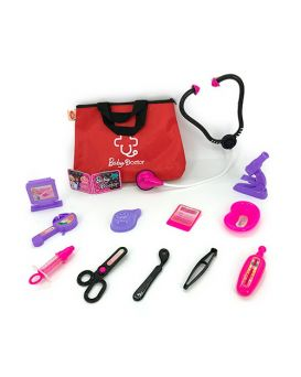 Набор «Доктор» медицинские инструменты, стетоскоп, лоток, шприц, в сумке 27х18х5 см