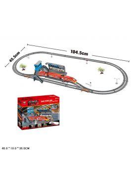 Железная дорога «Power Train» на батарейке, длина 300 см, в коробке 46,8х36х10 см
