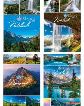 Блокнот А6 176 л., твердая обложка, в ассортименте, серия «MY BEAUTIFUL NATURE»