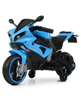 Мотоцикл 2 мотора 25W, 2 аккумулятора 6V4AH, MP3, TF, USB, свет, синий