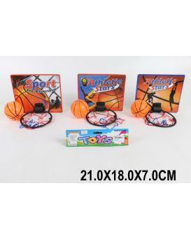 Баскетбольный набор, корзина, мяч, в ассортименте, в пакете 21х18х7 см