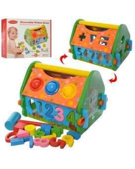 Деревянная игрушка «Развивающий Центр» стучалка, фигурки, сортер, в коробке 25х20х6,5 см