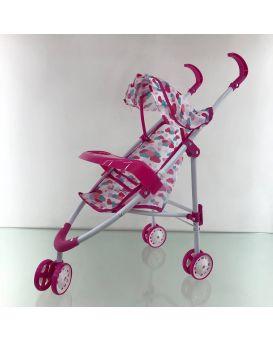 Коляска для кукол «Прогулочная» 3-х колесная, металлическая, поворотные колеса, в пакете 27х78 см