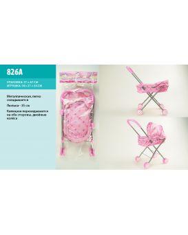 Коляска для кукол «Зимняя» металлическая, в ассортименте, в пакете 27х63 см